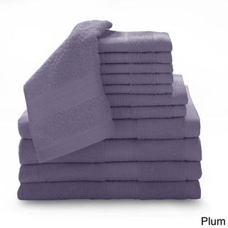 Luxury 100-percent Cotton 12-piece Towel Set with Bath Sheets