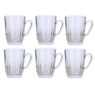 Handled Glass Tea Cup Set (Set of 6)
