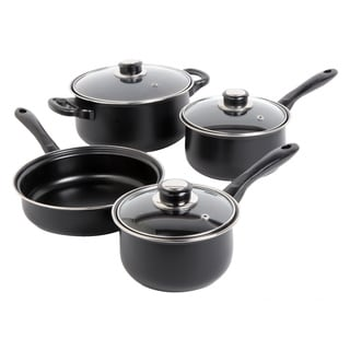 Newbrook 7-piece Carbon Steel Black Cookware Set