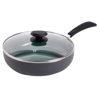 Gibson Home Eco-friendly 3.5-quart Green Ceramic Saute Pan