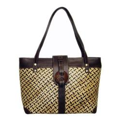 Women's Bamboo54 Pandanus Straw Bag Natural/Brown