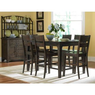 Attic Retreat Walnut Finish Counter-height Dining Set