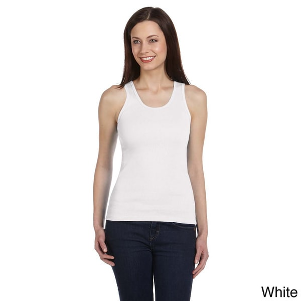 Bella Women's Rib-knit Ringspun Cotton Tank