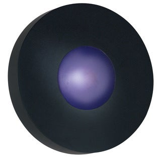 Dalya Large Round 1-light Black Sconce/ Flush Mount