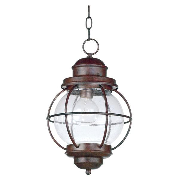 Elton 1-light Copper Indoor/ Outdoor Hanging Lantern - 16114125 - Overstock.com Shopping - Big ...