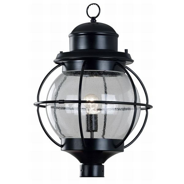 Elton 1-light Black Post Lantern