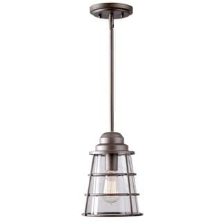 Starke 1-light Pewter Pendant