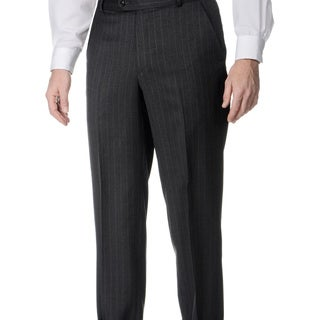 Palm Beach Men's Grey Wool Flat-front Pants