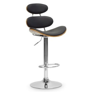 Baxton Studio Modana Walnut and Black Modern Bar Stool