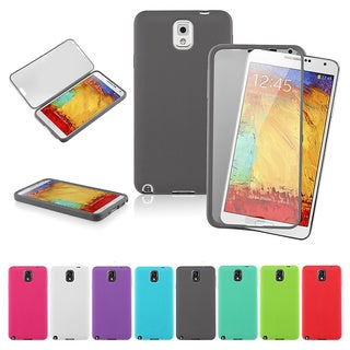 INSTEN Clear TPU Book-style Cover Phone Case Cover for Samsung Galaxy Note III N9000