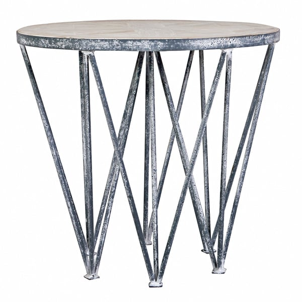 angelo:HOME Chelsea Road Wood and Metal End Table