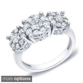 Auriya 14k Gold 1ct TDW Multi-stone Diamond Anniversary Ring (H-I, SI1-SI2)