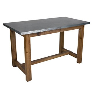 angelo:HOME Brookdale Zinc and Wood Dining/Gathering Table