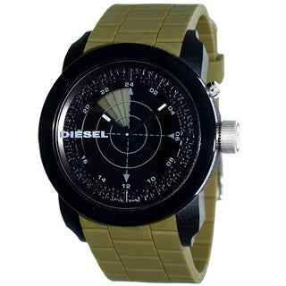 Diesel Men's Analog-Digital RDR Franchise Green Silicone Strap Watch