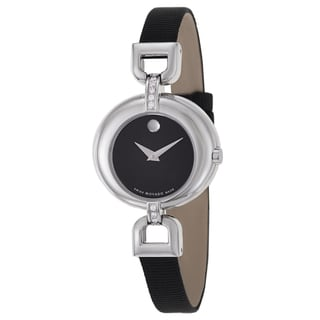 Movado Women's 'Vivo' Black Fabric Strap Diamond Accent Swiss Quartz Watch