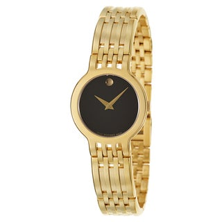 Movado Women's 'Esperanza' Yellow Goldpated Stainless Steel Swiss Quartz Watch