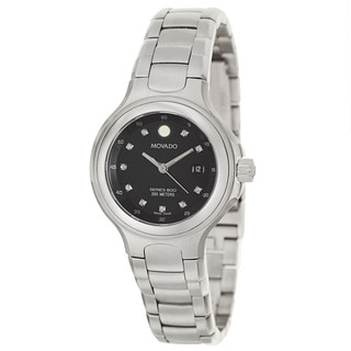 Movado Women's 'Series 800' Stainless Steel Diamond Accent Swiss Quartz Watch