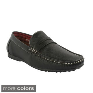 J's Awake Men's 'Kyle-03' Comfort Top-stitched Loafers