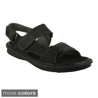 J's Awake Men's 'Diego-04' Double Strap Casual Sandals