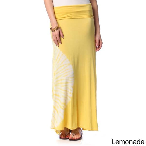 hadari s contemporary fold waist tie dye maxi