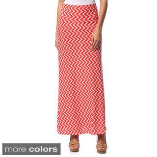 Hadari Women's Zig-zag print Maxi Skirt