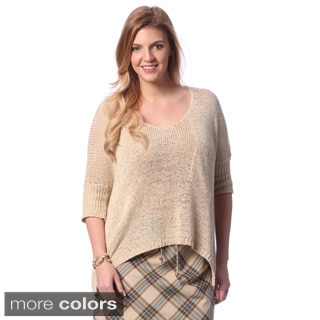 Women's Plus Size Chest Pocket Knit Sweater