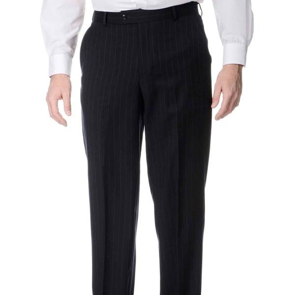 Henry Grethel Men's Blue Stripe Flat-front Pants