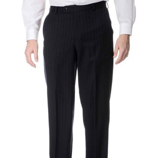 Palm Beach Men's Blue Stripe Flat-front Pants