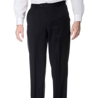 Henry Grethel Men's Blue Stripe Flat-front Pants