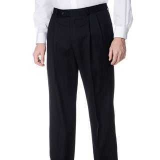Henry Grethel Men's Navy Pleated Front Pants