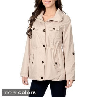 Kensie Women's Hooded Lightweight Packable Jacket