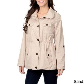 Kensie Women's Hooded Lightweight Packable Jacket