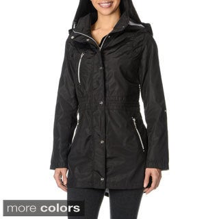 Kensie Women's Hooded Lightweight Jacket