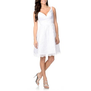 Attitude Couture Women's White Lace Wedding Dress