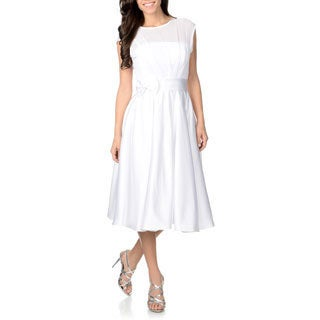 Attitude Couture Women's White Chiffon Wedding Dress