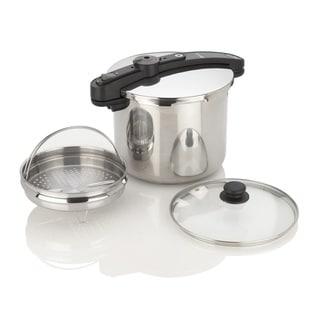 10-quart Stainless Steel Pressure Cooker