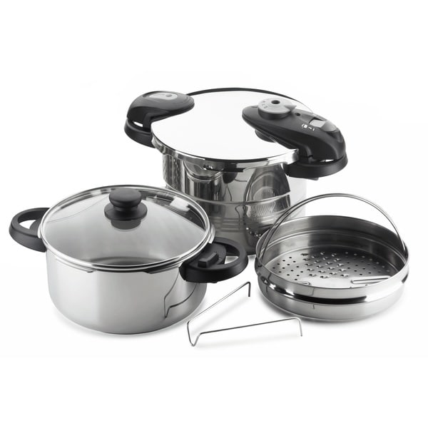 Stainless Steel 5-piece Pressure Cooker Set