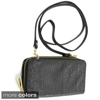 Adrienne Landau Double-Zip Crossbody