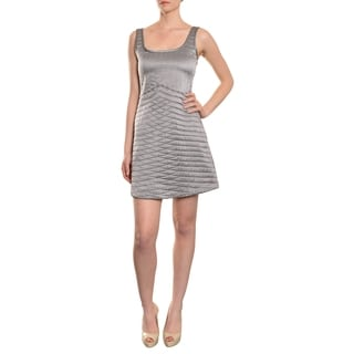 Cynthia Rowley Women's 'Modish' Silver Quilted Silk Dress