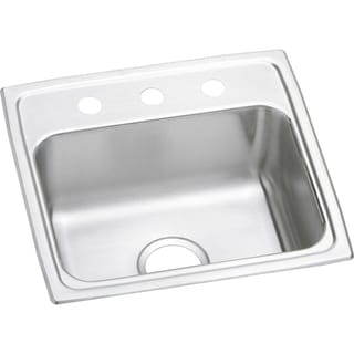 Elkay LR19193 Gourmet Lustertone Stainless Steel Single-bowl Top-mount Kitchen Sink