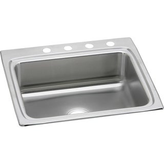 Elkay LR25224 Gourmet Lustertone Stainless Steel Single-bowl Top-mount Sink