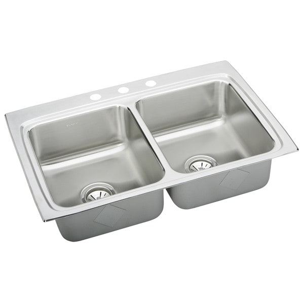 Elkay Stainless Steel Kitchen Sinks : Stainless-Steel-Elkay-LR33223-Gourmet-Lustertone-Stainless-Steel ...