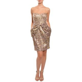 Mark & James by Badgley Mischka Women's Strapless Sequin-Encrusted Mini Dress