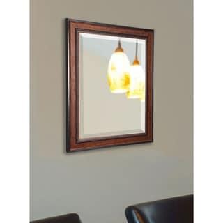 American Made Rayne Rustic Modern Pine Wall Mirror