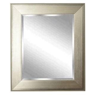 American Made Rayne Brushed Silvertone Rectangular Wall Mirror