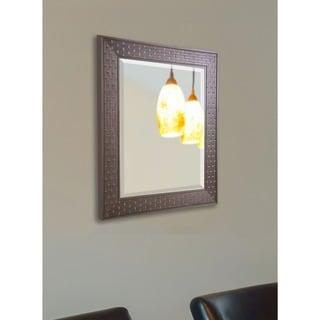 American-made Rayne Espresso Bricks Rectangular Wall Mirror