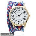 Geneva Platinum Women's Aztec Print Wrap Watch