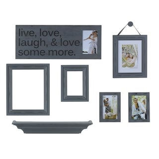 Distressed Grey 8-piece Wall Hanging Set