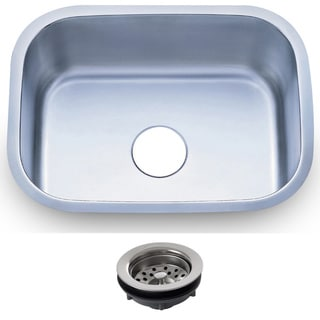 23.5-inch Stainless Steel 16 gauge Undermount Single Bowl Kitchen Sink