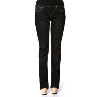 Stitch's Women's Dark Wash Denim Straight Leg Jeans